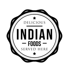 Delicious indian foods vintage stamp vector