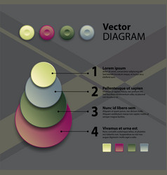 diagram template vector image vector image