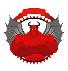 Dreaded scary satan logo for a sports team or vector