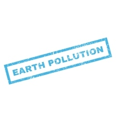 Earth pollution rubber stamp vector