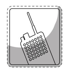 Figure police radio icon image vector