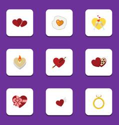 Flat icon passion set of shaped box celebration vector
