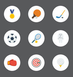 flat icons reward golf ball and other vector image vector image