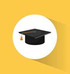 graduation cap education symbol vector image vector image
