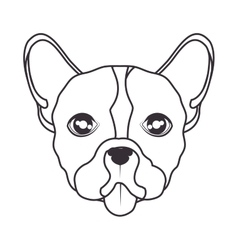 Hand draw face dog icon vector