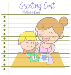 Happy mother day of greeting card style vector