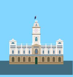 Historic building ballarat vector