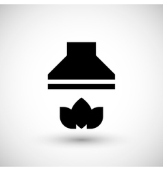 Kitchen hood icon vector
