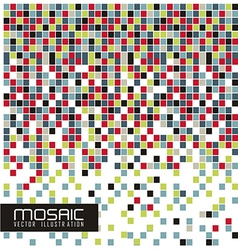 mosaic of color vector image