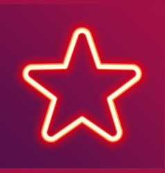 Neon glowing star vector