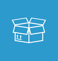 Packaging box icon with arrow symbol shipping vector