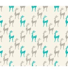 Seamless cartoon deer background vector image vector image