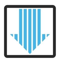 Stripe arrow down framed icon vector