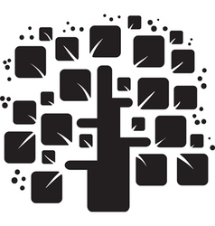 stylized black tree vector image