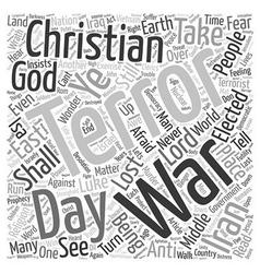 Terror the lost war text background wordcloud vector