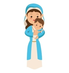 virgin mary carrying baby jesus icon vector image vector image