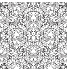 Zentangle stylized peacock feather pattern vector image vector image