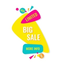 Advertising banner big limited sale more info vector