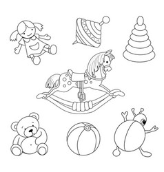 Toys for coloring vector