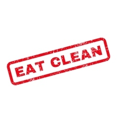 Eat clean text rubber stamp vector