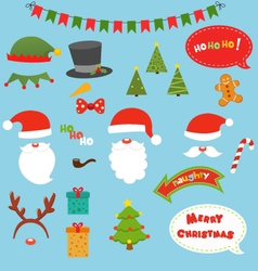 Christmas prop set vector