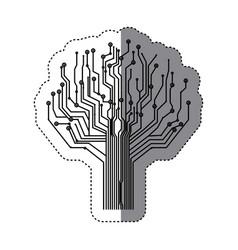 circuit tree icon image vector image