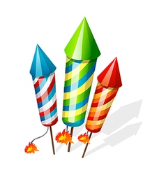 Icon firecrackers vector