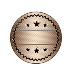 color circular stamp with starry border and vector image