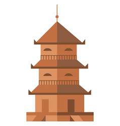 Ancient tower isolated icon vector
