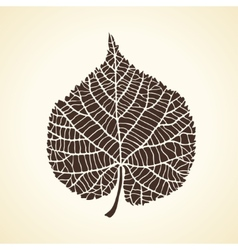Stylized detail silhouette of leaf isolated on vector