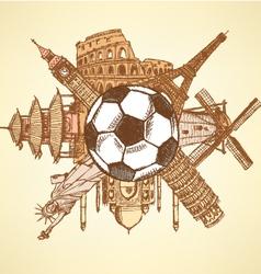 Ball buildings vector