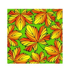 Beautiful decorative ornament with autumn leaves vector