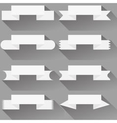 Modern ribbons and banners for your text vector image