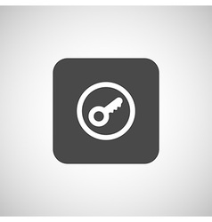 Key icon flat design style vector