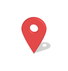 Location red pointer vector image