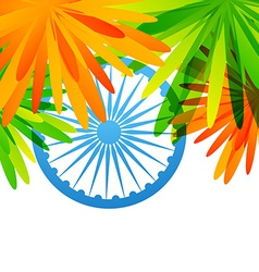 Creative indian flag design vector