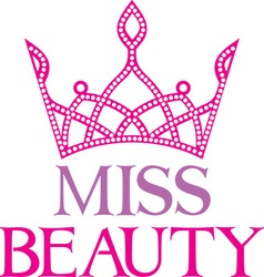 Miss beauty icon vector