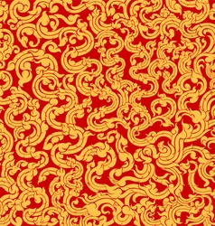 Vine pattern on a red vector