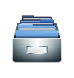 File cabinet with documents vector