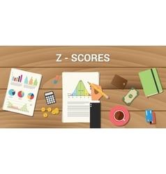 Z-score interactive graph normal distribution vector