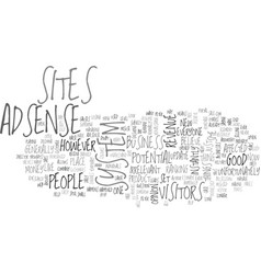 adsense good or bad text word cloud concept vector image