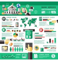 Bank service infographics vector