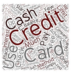 Cash advances and credit card checks a closer look vector