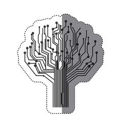 circuit tree icon image vector image vector image