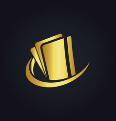 Credit card technology gold logo vector