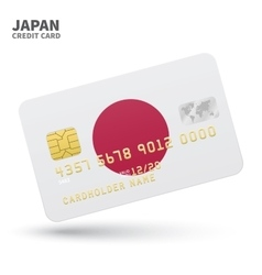 Credit card with japan flag background for bank vector
