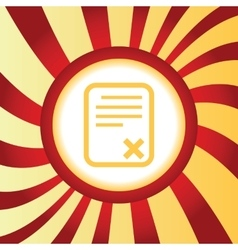 Denied document abstract icon vector