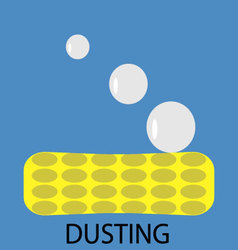 Dusting icon flat vector image vector image