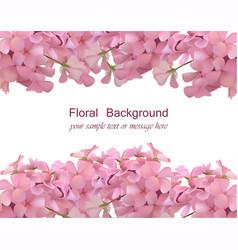 Floral blossom card frame spring summer delicate vector