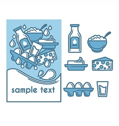 Milk collection vector